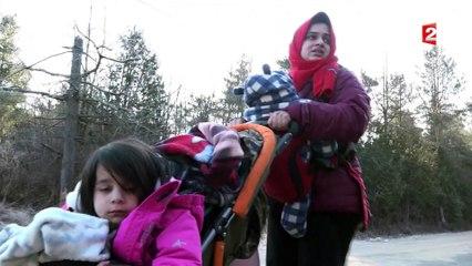 Sur la route des réfugiés à la frontière canadienne