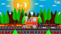 Trains Cartoons for Kids The Train and The Racing Car | Cars & Trucks cartoon for children