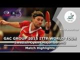 Swedish Open 2015 Highlights: MAZE Michael vs LUNDQVIST Jens (R64)