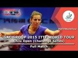 2015 Chile Open FULL MATCH: JEON Jihee vs ARGUELLES Camila (1/4)