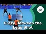 Crazy Between the Legs Table Tennis Shot