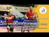 China Open 2015 Highlights: FANG Bo/ZHU Linfeng vs FREITAS Marcos/LUNDQVIST Jens (1/2)
