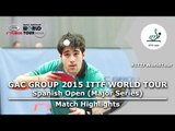 Spanish Open 2015 Highlights: BROSSIER Benjamin vs YIGENLER Abdullah (Qual Groups)