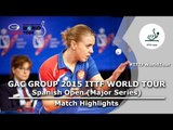 Spanish Open 2015 Highlights: TROSHNEVA Elena vs LOPEZ Elena (Qual Groups)