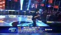 Australian Idol 5 - Matt Corby Top 10 TOUCHDOWN Performance