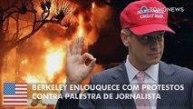 Berkeley enlouquece com protestos contra palestra de Milo Yiannopoulos.