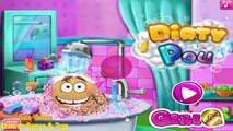 Lets Play Fun Pou Games | Dirty Pou Gameplay Washing Games for Kids Fun