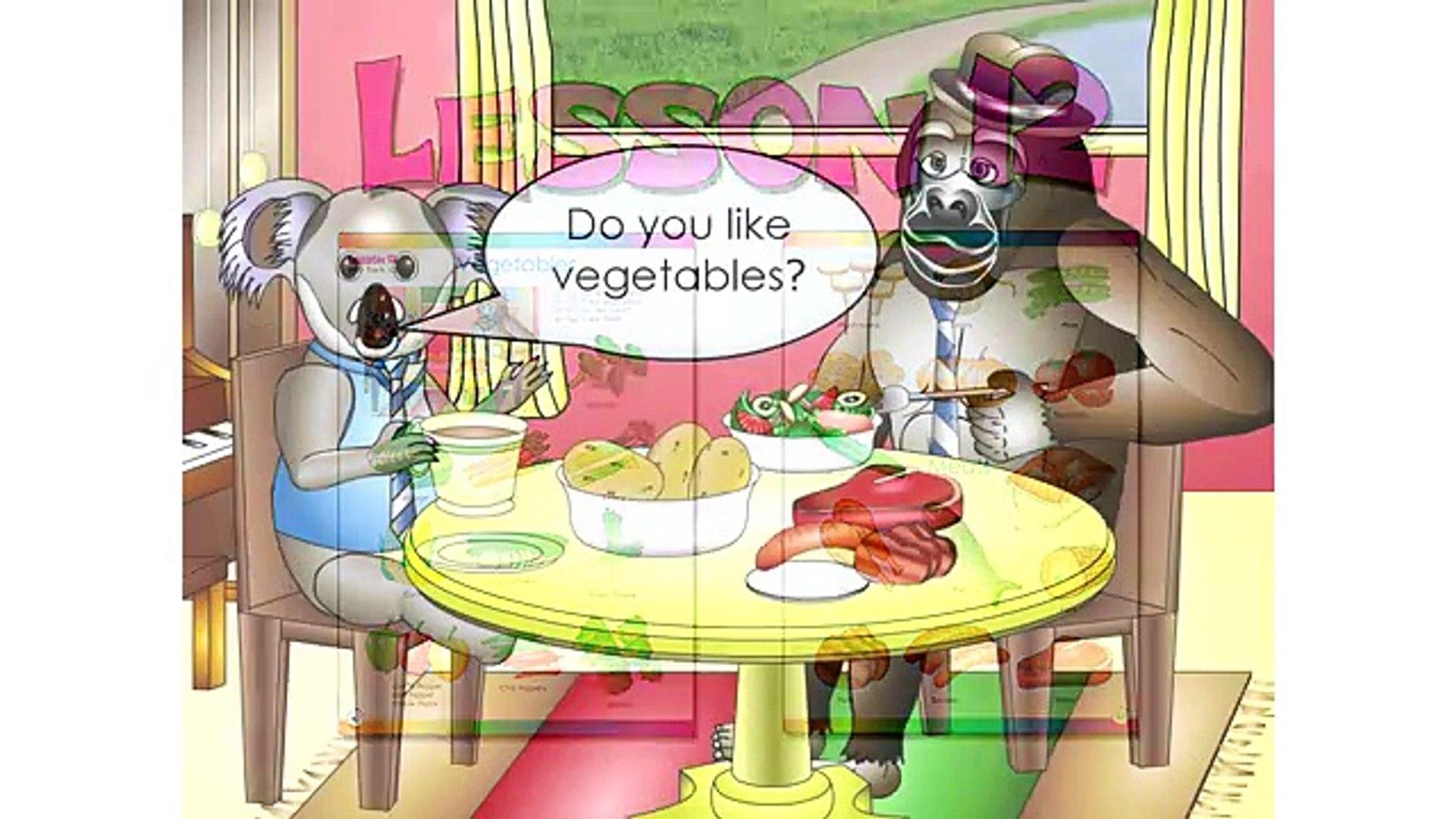 2. и клип образование английский здоровый Узнайте Урок уровень мясо овощи 12