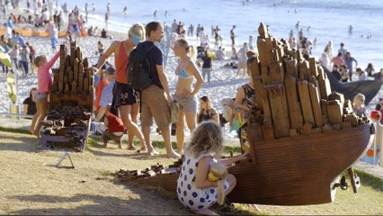 Australian art show held on beach