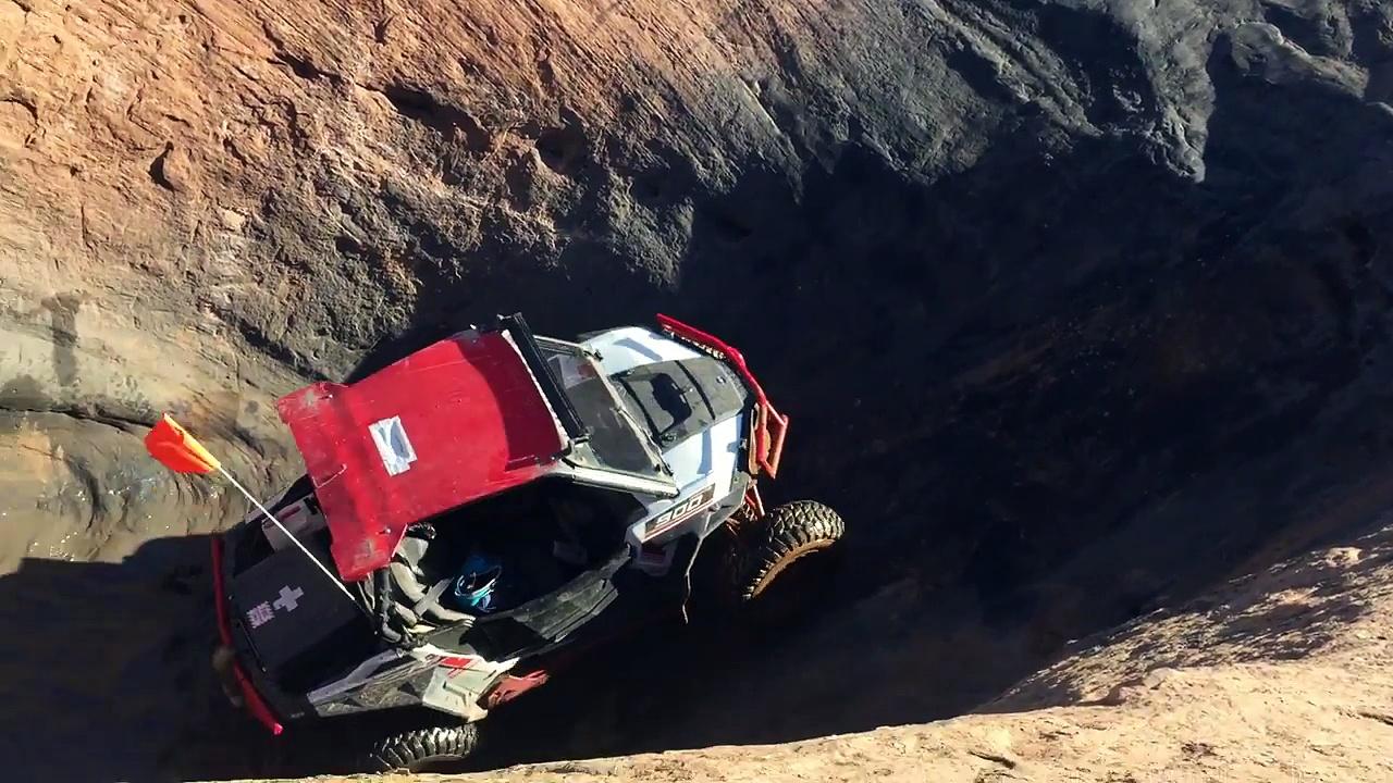 Moab Devils hot tub rzr crash fail