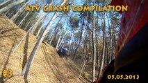 #3 ATV Crash Compilation Fail - Quad Yamaha Raptor Suzuki Honda