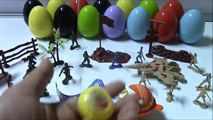 Open SpongeBob And Kinder Joy Surprise Eggs With Toy Army Men | SPONGEBOB KINDER JOY SURPRISE EGG