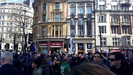 Anti Brexit protest at Trafalgar Square