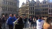 Οι Έλληνες φίλαθλοι στις Βρυξέλλες