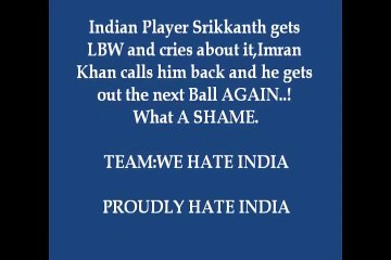 Indian Batsman crying_ Imran Khan Greatness Another Chance given although the batsman was out