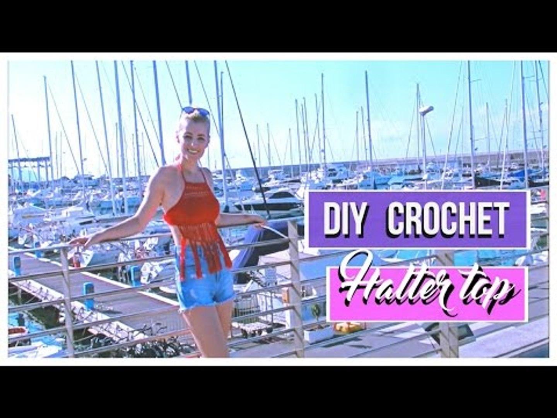 DIY CROCHET HALTER TOP + OOTD