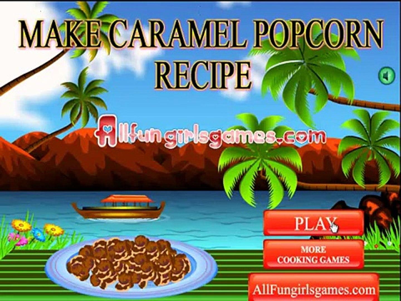 make caramel popcorn recipe game for kids , nice game for childrens , nice game for kids fun game