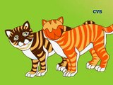 Monkey & Two Cats- story in Hindi animation (दोनों