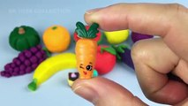 Learn Names of Fruits and Vegetables using Play Doh with Surprise Toys Shopkins Season 3