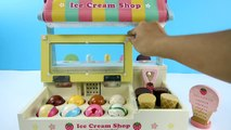 MAGNETIC ICE CREAM Shop with IceCream Scoop Tasty Flavors and Powerful Magnets