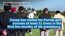Trump used to criticize Obama for golfing. Then he became a president who golfs, too.