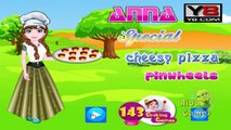 DISNEY FROZEN ANNA Special Cheesy Pizza Pinwheels Game - Cooking Games For Girls