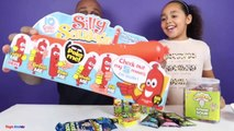 Silly Sausage Toy Challenge Game - Warheads Extreme Sour Candy - Family Fun Games-Nz7v0