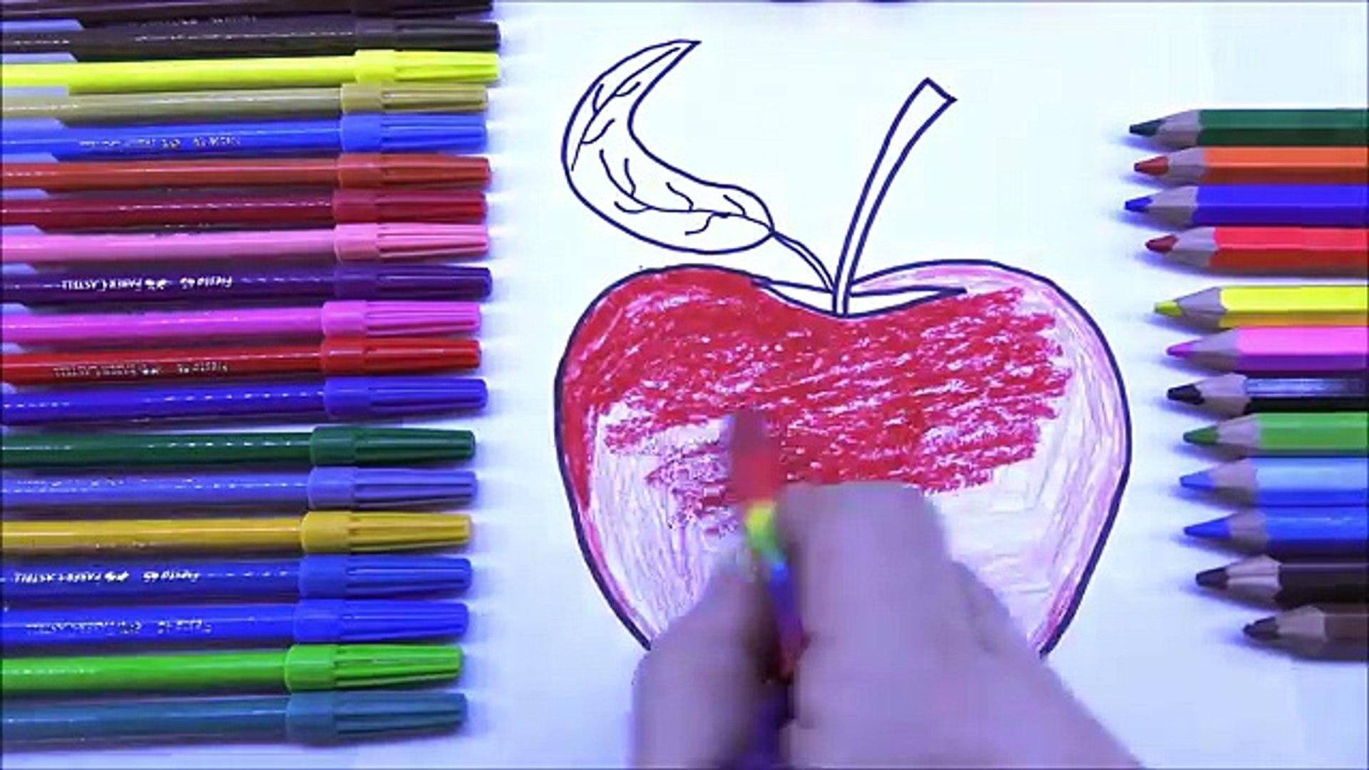 Овощи раскраска игра и обучение фрукты для Дети Веселая красочный видео