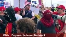 3/25 Huntington beach Trump Rally Riot / Fight with ANTIFA protesters #DNN