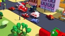 Der Streifenwagen mit dem Polizeiauto : mit Tom dem Abschleppwagen und dem Unfall in Autop