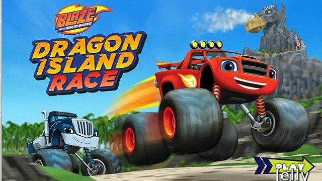Blaze and the Monster Machines - Blaze: Dragon Island Race Gameplay