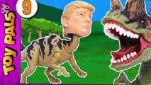 TRUMPOSAURUS Dinosaurs Revenge Jurassic Park World Toys Dinosaur Toy Kids Videos 9-gQ