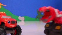 DINOTRUX Toys Ty RUX (Dinosaurs & Trucks) Gets Help from BLAZE AND THE MONSTER MACHINES Toypals.tv-zeD