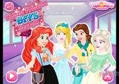 Disney Princesses Bffs Secrets - Princess Elsa Ariel Belle and Cinderella Dress Up Games F