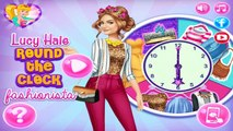 Lucy Hale Round The Clock Fashionista - Dress Up Game
