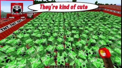 10,000 TNT VS 1000 CREEPERS _ Minecraft
