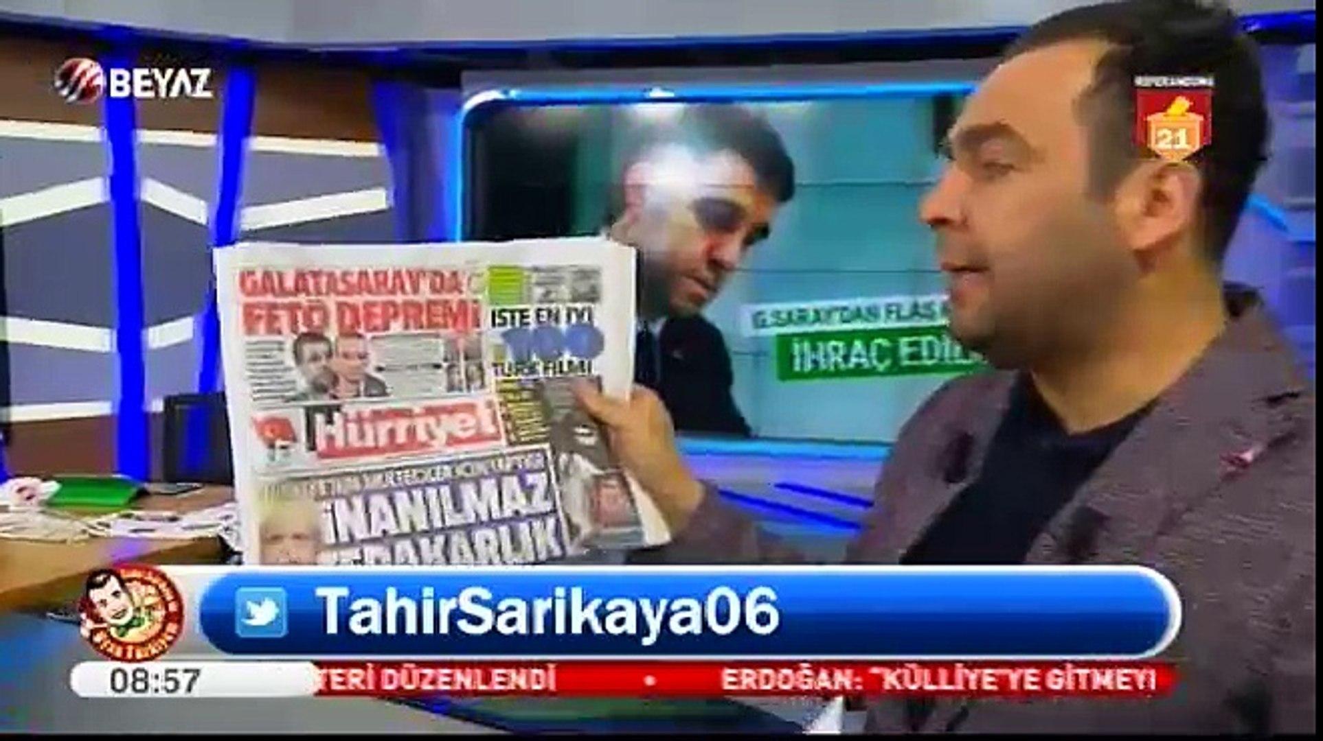Tahir Sarıkaya, Galatasaray'a 'FETÖSARAY' dedi