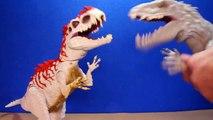 Jurassic World INDOMINUS REX Toy Dinosaurs Hybrid Rampage & Armor I-REX Dinosaur Toys Review-D8bmp9E