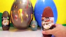 Giant DINOSAUR EGGS Surprise Toy Dinosaurs Jurassic World Toys, Volcano Egg, Dino Dig Videos-2H