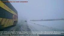 La plupart des accidents de la route choquants horrible accident de voiture russe 2016 année, 25 min comp