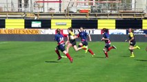 Stade Montois rugby féminin 19 - 00 Entente SP Bruges Blanquefort  2ème Essai Lisa Diraison  (Vidéo Barnabé Alinfilou)