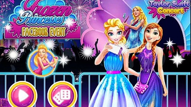 Princess Elsa and Anna Facebook Event - Disney Frozen Princess Shopping & Dress Up Games F