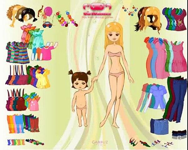 Мама дочь платье вверх весело Дети Игры для девушки Новые функции