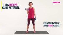 2 exercices pour les biceps avec des haltères