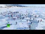 '3 days on thin ice': 205km freezing endurance Baikal race