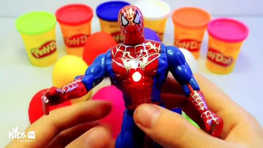 Surprise Eggs Play-doh Spiderman Elsa Peppa Pig Surprise Toys Learn Colors Kids videos