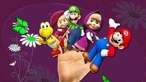 Super Mario Cartoon Finger Family Nursery Rhymes | Masha And Bear Finger Family Rhymes For Children