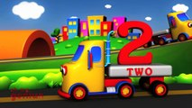 Learn Colors and Numbers with Wooden Truck Toy - Colours and Numbers Videos Collection for