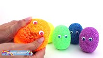 SpongeBob Foam Clay Surprise Eggs Ice Cream Cups Disney Frozen Minions Mickey Mouse Rainbo