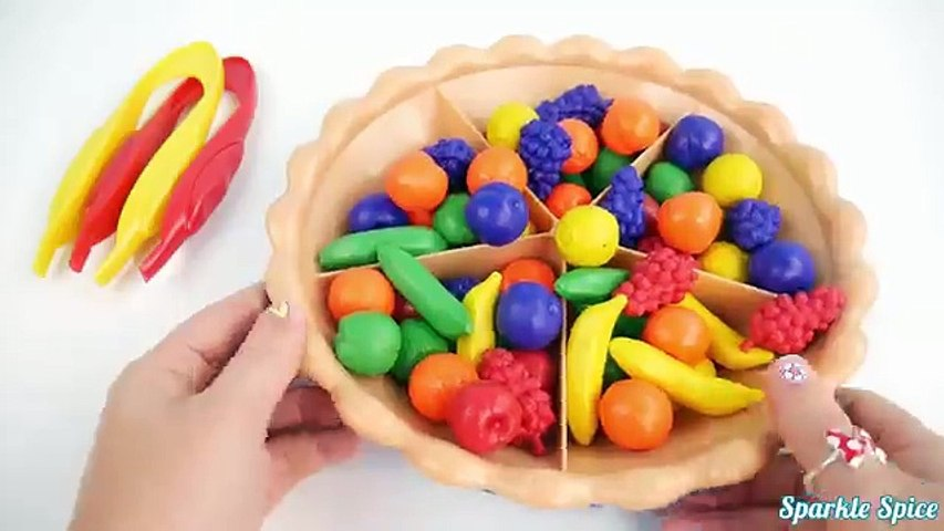 Learn Fuit Names and Colors with Super Sorting Pie Toy Surprises Paw Patrol